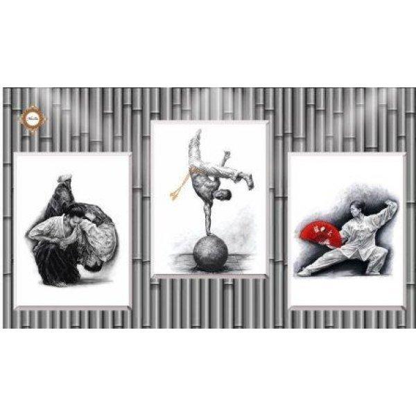 СЛТ-2219 Боевые искусства мира. Схема для частичной вышивки бисером модульной картины. ТМ Миледи, Украина