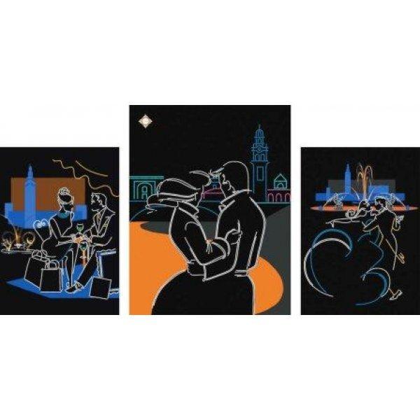 СЛТ-2208 Любовь в большом городе. Схема для частичной вышивки бисером модульной картины. ТМ Миледи, Украина