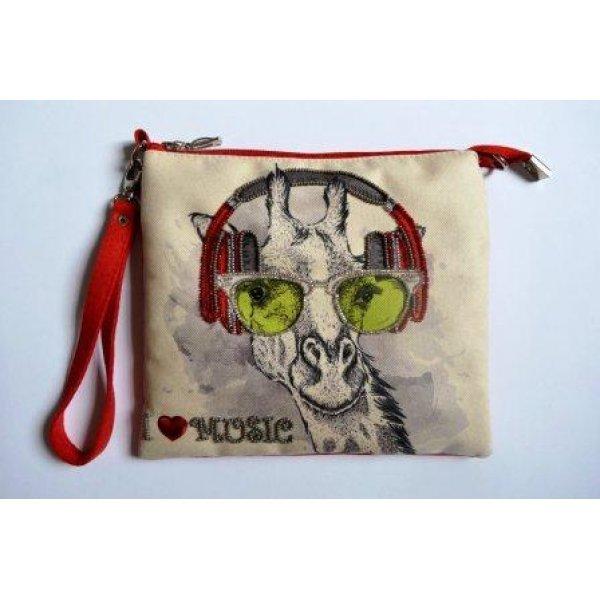 КС-002 Фан-музыкант. Пошитый клатч для вышивки бисером и декоративными элементами. ТМ Миледи, Украина