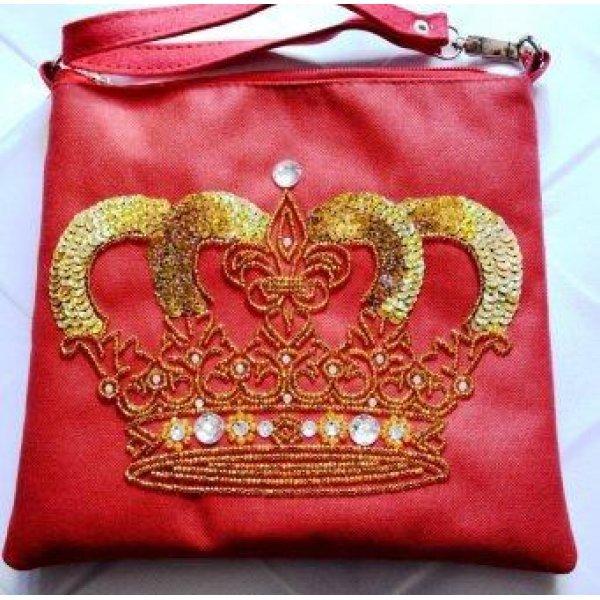 КС-006 Queen. Пошитый клатч для вышивки бисером и декоративными элементами. ТМ Миледи, Украина