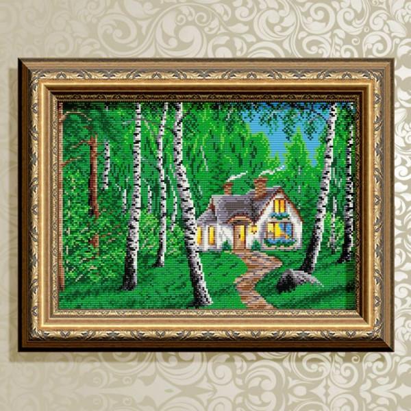 AT3015 Домик в лесу. ТМ ArtSolo. Набор для полной выкладки алмазами