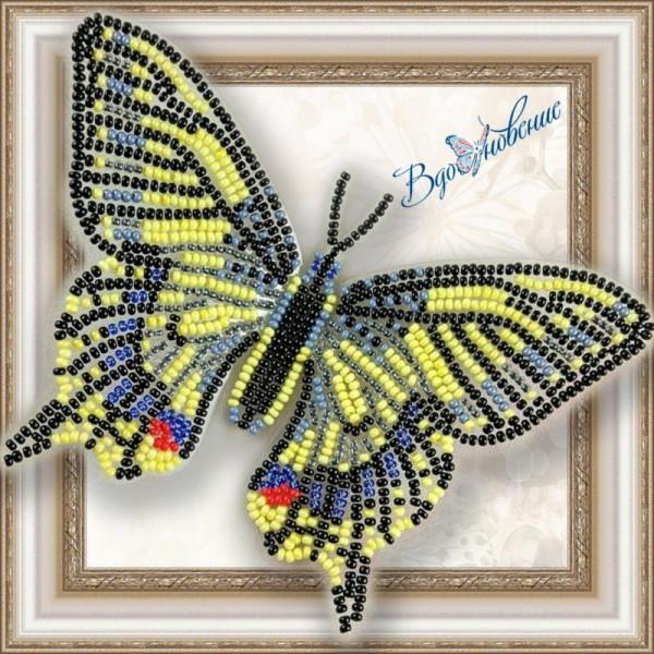 BGP-002 Бабочка Махаон. ТМ Вдохновение. Набор для вышивки бисером на прозрачном пластике