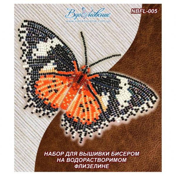 NBFL-005 Бабочка Цитозия Библс. ТМ Вдохновение. Набор для вышивки бисером на флизелине
