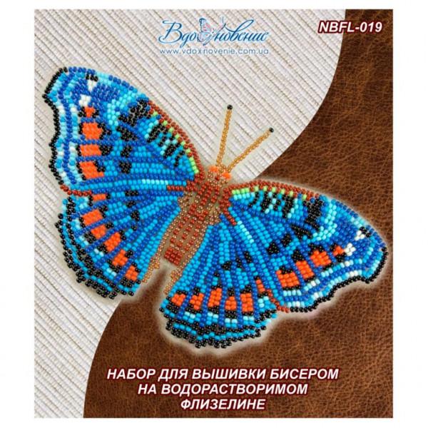NBFL-019 Бабочка Прецис Октавия. ТМ Вдохновение. Набор для вышивки бисером на флизелине