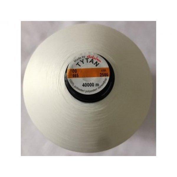 2500 Нить бисерная Титан промышленная намотка (белая) 40 000метров.Tytan100 .Ariadna