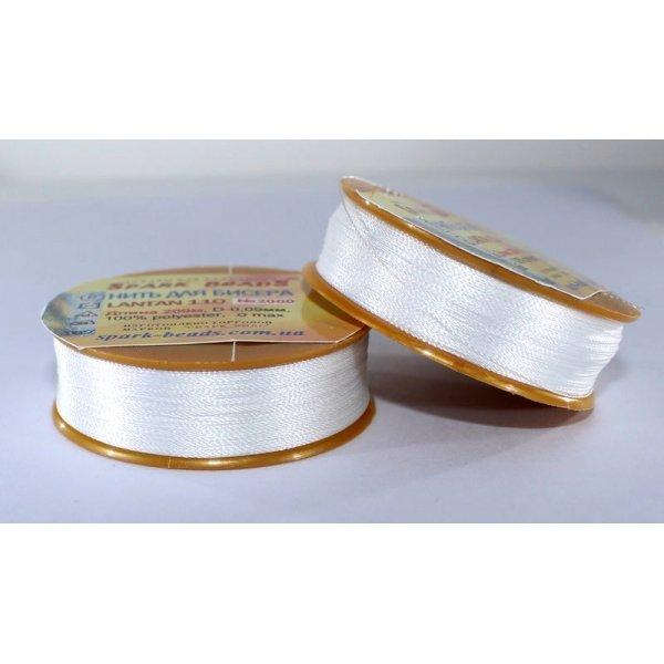 2000 Нить для вышивки Лантан 110 (ультра-белый)200метров.Spark Beads
