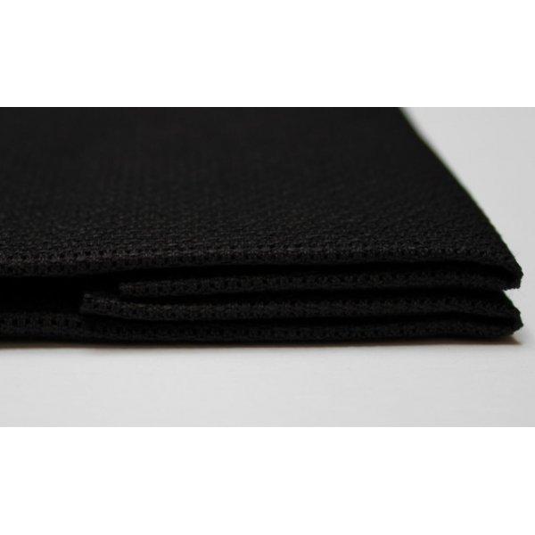 ВТ-14 Канва для вышивки Аида14ct черная 50х50см. Коломийські тканини