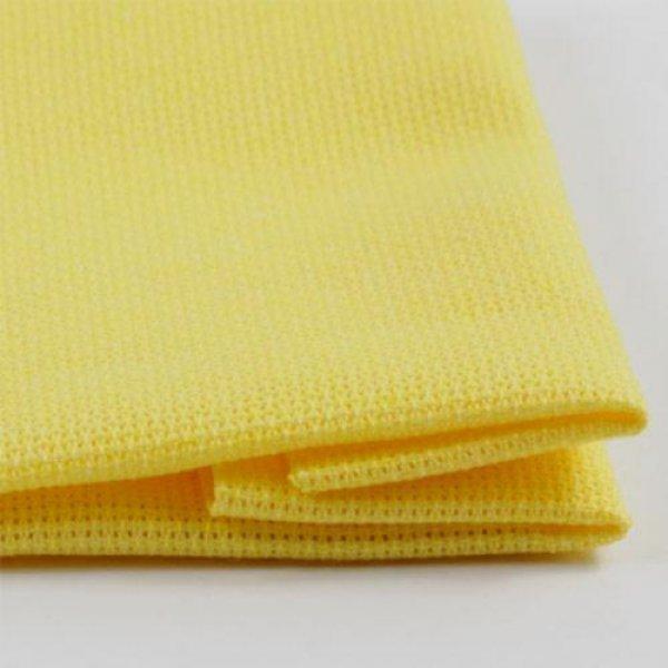 ТВШ-21 1/4 Ткань для вышивки Аида16ct (яркий желтый) 50х50см. Коломийські тканини.Канва для вышивки