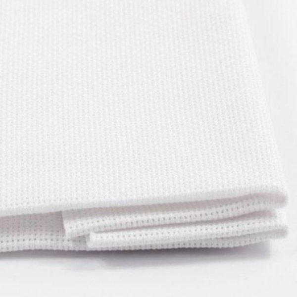 ВТ-14Ткань для вышивки Аида14ct (белый) 50х50см. Коломийські тканини.Канва для вышивки