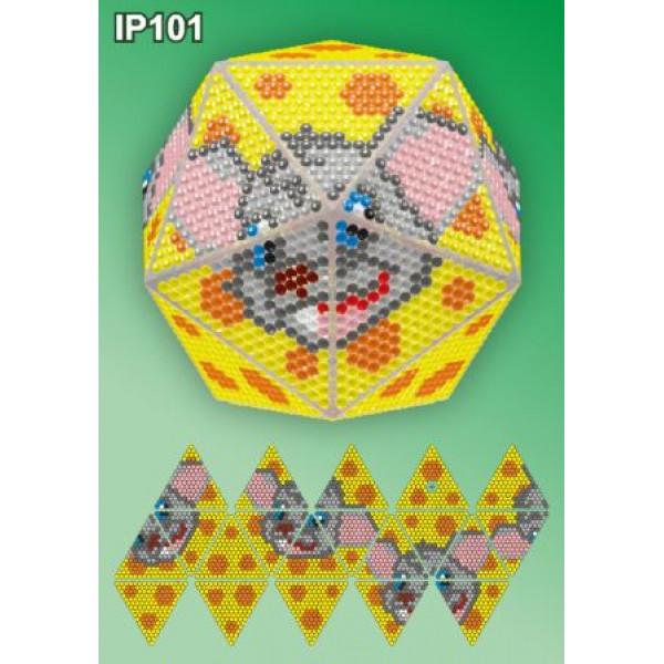 IP101 Мышонок. ТМ Вдохновение.Набор для создания новогоднего шара в алмазной технике