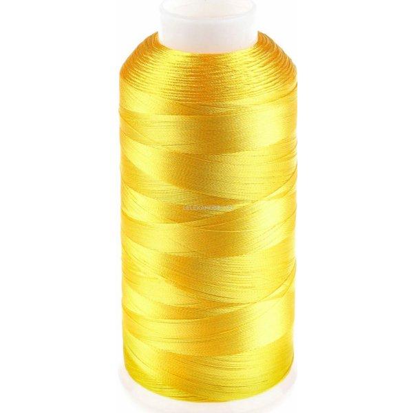 111 Нить бисерная промышленная намотка (желтый яркий) 3000Y 120D/2.Dor Tak