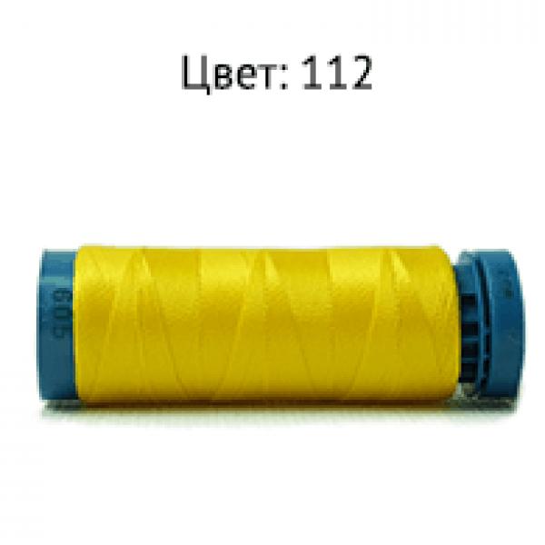 112/F605 Нить бисерная (желтый яркий) 200Y 120D/2 .Dor Tak