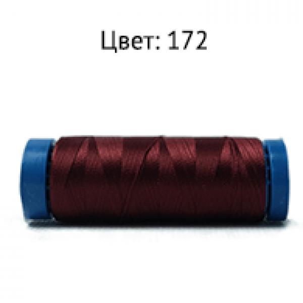172/F713  Нить  бисерная (коричнево-бордо) 200Y 120D/2 .Dor Tak