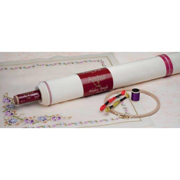 NK01010 Шелк для вышивания Anchor Silk  экрю (шир.115см). Anchor.метраж