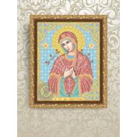 VIA4004 Богородица Семистрельная. ТМ ArtSolo (Арт Соло). Схема для частичной вышивки бисером