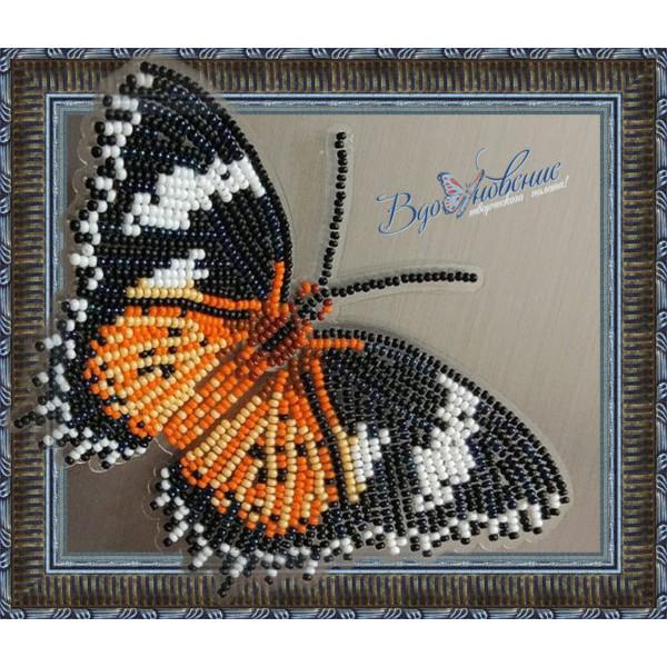 BGP-005 Бабочка Цетозия Библс. ТМ Вдохновение. Набор для вышивки бисером на прозрачном пластике